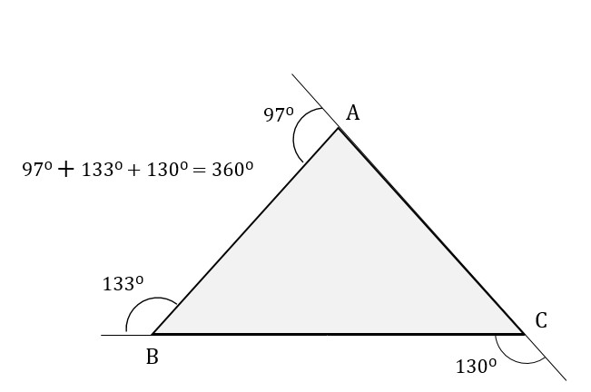 Triangles gmat free What do exterior angles of a triangle add up to