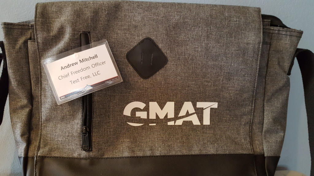 GMAT Messenger Bag: Spoils of Glamorous Life as Test Prep Nerd